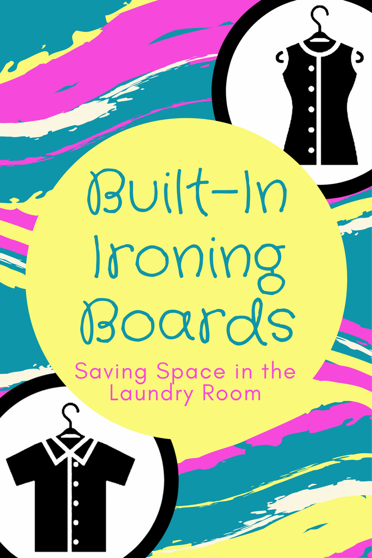 Love the idea of a built-in ironing board so at least the set up and put away chores are minimal! Options for both homeowners and renters.